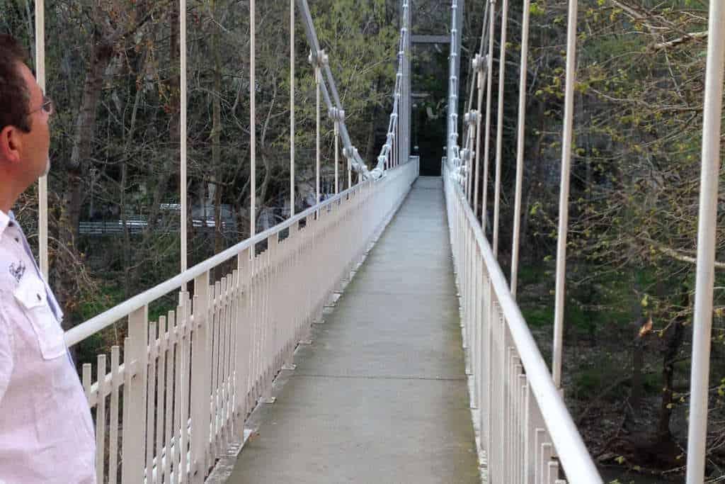 Hängebrücke Tempi Tal